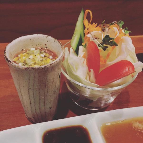 箸休めとサラダ